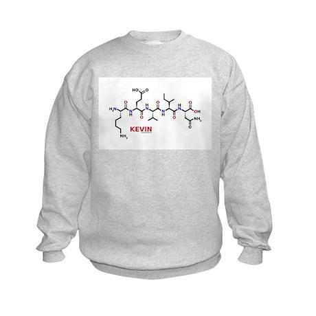 Kevin name molecule Kids Sweatshirt