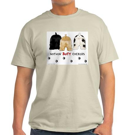 Nothin' Butt Cockers Ash Grey T-Shirt