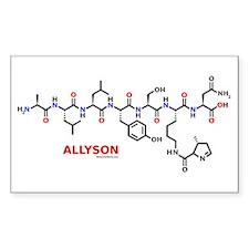 Allyson name molecule Rectangle Decal
