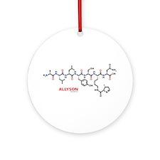 Allyson name molecule Ornament (Round)