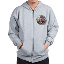 British Culture Football Zip Hoodie