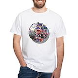 British bulldog Mens White T-shirts