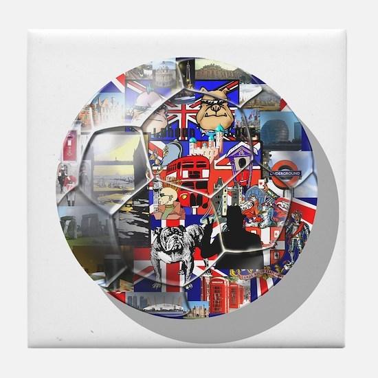 British Culture Football Tile Coaster