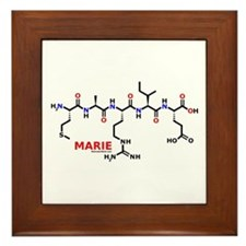 Marie name molecule Framed Tile