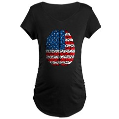 Brain USA Maternity Dark T-Shirt