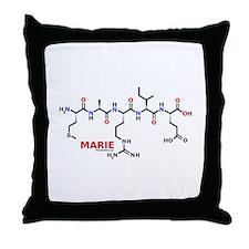 Marie name molecule Throw Pillow