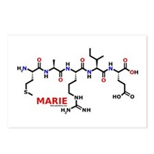 Marie name molecule Postcards (Package of 8)