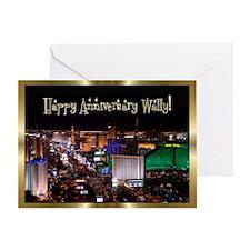 Las Vegas Anniversary Gold Greeting Card
