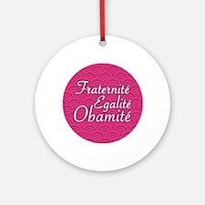 Obama Holiday Ornament (French)
