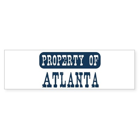 Property of Atlanta Bumper Sticker