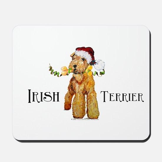 Irish Terrier Santa Mousepad
