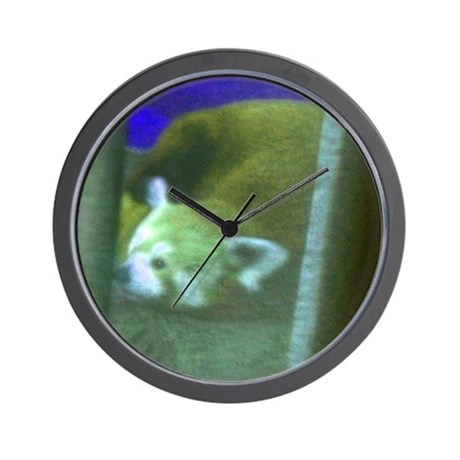 red panda 2 Wall Clock