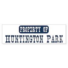 Property of Huntington Park Bumper Sticker (50 pk)