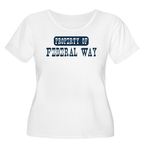 Property of Federal Way Women's Plus Size Scoop Ne