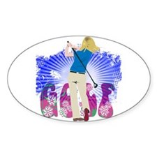 Golf Extras Oval Decal