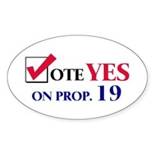 Vote YES on Prop 19 Oval Decal