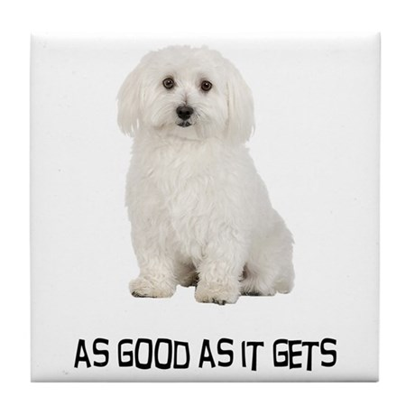 Good Bichon Frise Tile Coaster