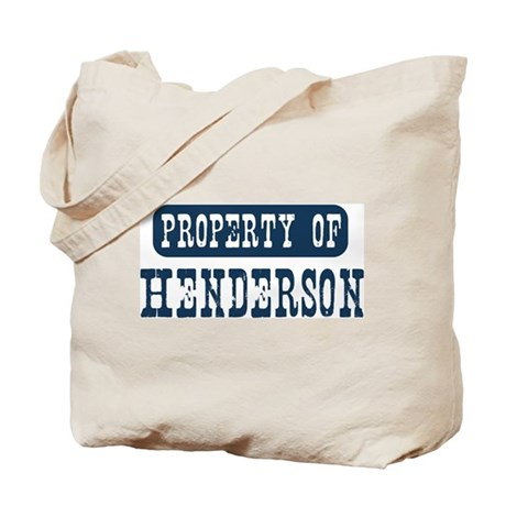 Property of Henderson Tote Bag