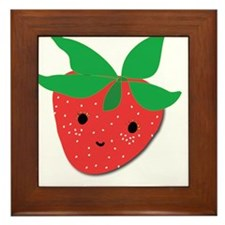 Strawberry Friend Framed Tile