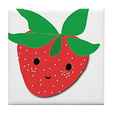 Strawberry Friend Tile Coaster