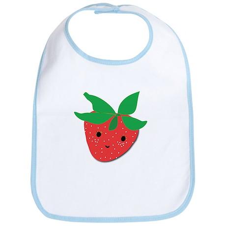 Strawberry Friend Bib