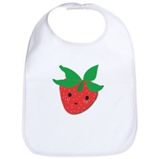 Strawberry Friend Bib