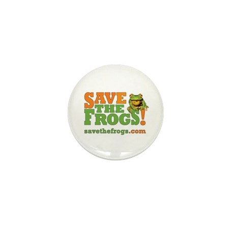 "SAVE THE FROGS! 1"" Pin - Great for Schoolbags"