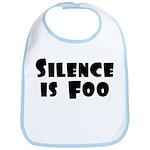 SILENCE IS FOO Bib
