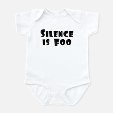 SILENCE IS FOO Infant Bodysuit
