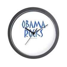 Obama Rocks - Wall Clock