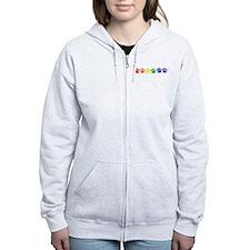 Rainbow Paws Zip Hoody