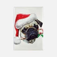 Pug Christmas Rectangle Magnet