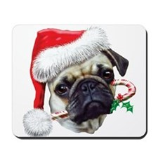 Pug Christmas Mousepad