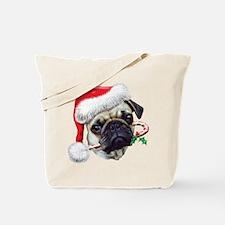 Pug Christmas Tote Bag