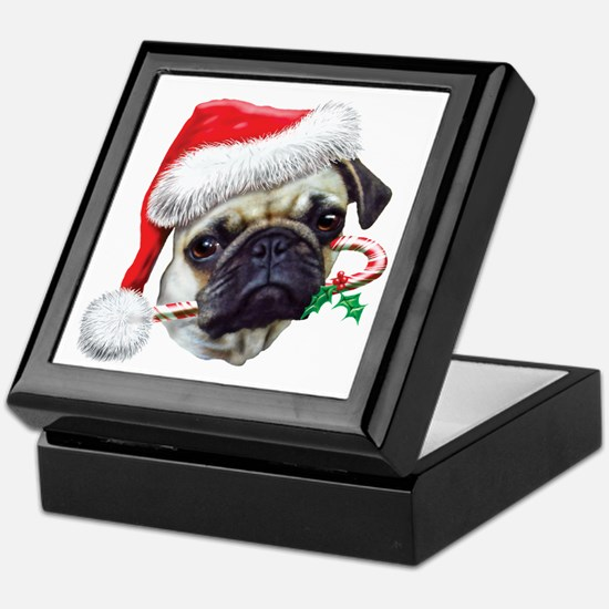 Pug Christmas Keepsake Box