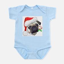 Pug Christmas Infant Bodysuit