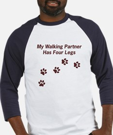 Walking Partner Has Four Legs Baseball Jersey
