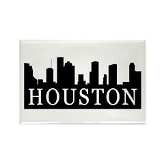 Houston Skyline Rectangle Magnet (100 pack)