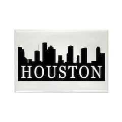 Houston Skyline Rectangle Magnet (10 pack)