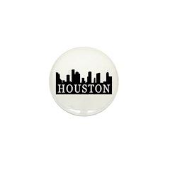 Houston Skyline Mini Button (10 pack)