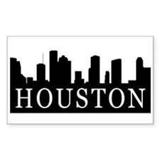Houston Skyline Rectangle Decal