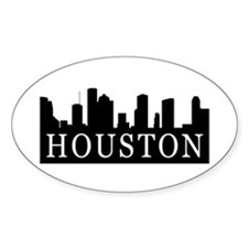 Houston Skyline Oval Decal