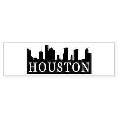 Houston Skyline Bumper Bumper Sticker