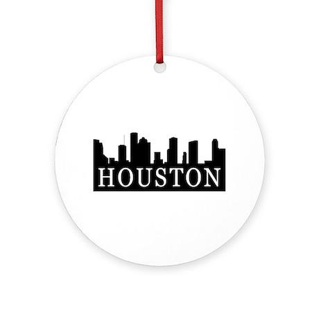 Houston Skyline Ornament (Round)