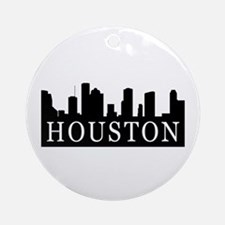 Houston Skyline Ornament (Round)