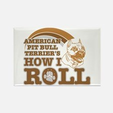 american pit bull terrier's how I roll Rectangle M
