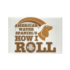 american water spaniel's how I roll Rectangle Magn