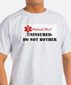 Medic Alert - Uninsured Ash Grey T-Shirt