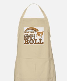 border collie's how I roll BBQ Apron