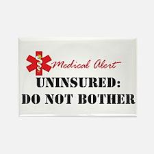 Medic Alert - Uninsured Rectangle Magnet